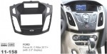 Рамка переходная 11-158 Carav Ford Focus III, C-Max 2011+ (with 3.5 display)