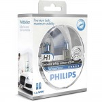 Лампа накаливания Philips H1 WhiteVision +60%, 4300K 2шт в блистере 12258WHVSM