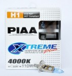 Автолампы PIAA Etreme White Plus H1 4000K комплект 2шт